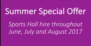 Sizzling Offer for Sports Hall Hire!
